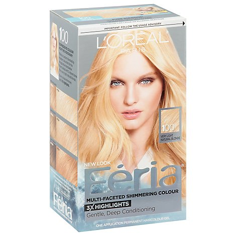 Feria Multi-Faceted Shimmering Colour 3x Highlights Very Light Natural Brown 100 - Each