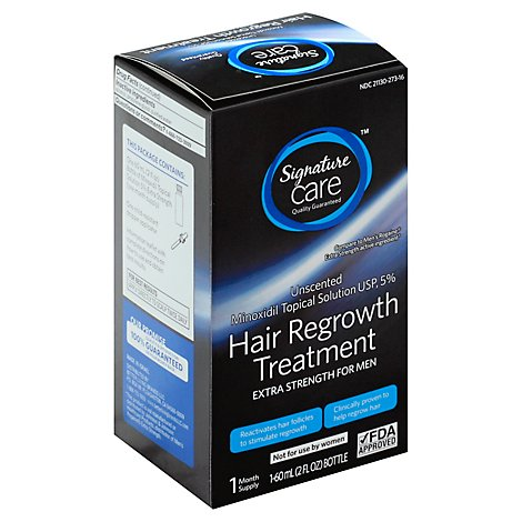 Signature Care Hair Regrowth Treatment Extra Strength for Men Unscented - 2 Fl. Oz.