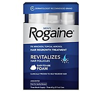 Rogaine Hair Regrowth Treatment Mens Foam Revitalizes Hair Follicles Unscented - 3-2.11 Oz