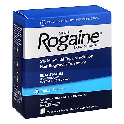 Rogaine Mens Extra Strength Unscented Hair Growth Treatment - 3-2 Oz