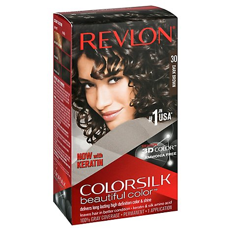 Revlon Colorsilk Beautiful Color Hair Color Dark Brown 30 - Each