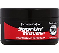 Magic Sportin Waves Pomade Gel With Wavitrol III - 3.5 Fl. Oz.