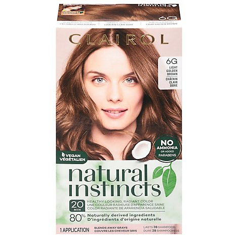 CLAIROL Natural Instincts Hair Color Non-Permanent Light Golden Brown 12 - Each