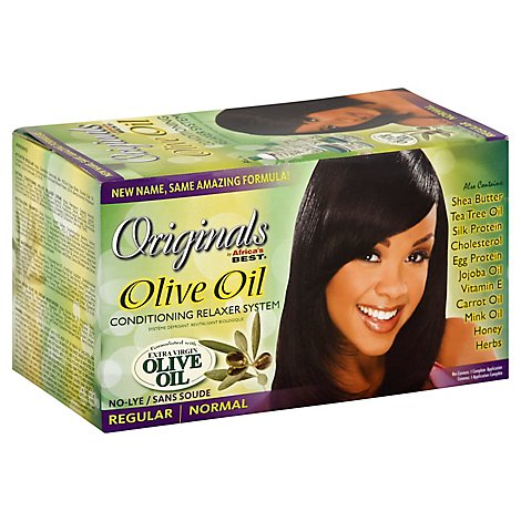 Africas Best Hair Care Organics Regular No Lye Relaxer Kit - Each