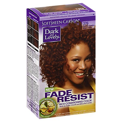 Dark And Lovely Permanent Haircolor Red Hot Rhythm 376 Fade Resist - Each