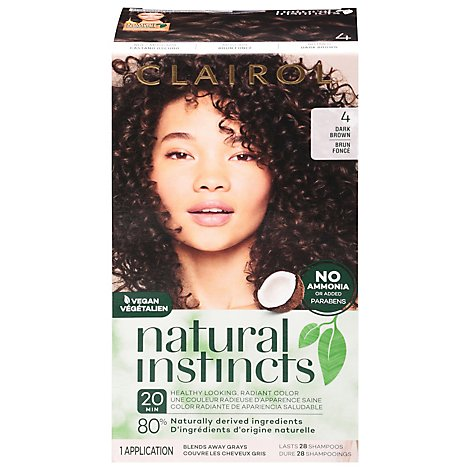 CLAIROL Natural Instincts Hair Color Non-Permanent Nutmeg Dark Brown 28 - Each