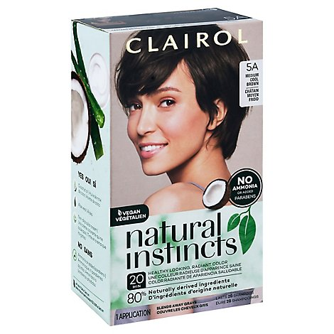 CLAIROL Natural Instincts Hair Color Non-Permanent Medium Clove Cool Brown 24 - Each