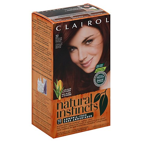 CLAIROL Natural Instincts Hair Color Non-Permanent Medium Auburn Brown 22 - Each