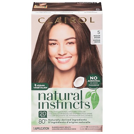 CLAIROL Natural Instincts Hair Color Non-Permanent Medium Brown 20 - Each