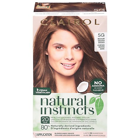 CLAIROL Natural Instincts Hair Color Non-Permanent Pecan Medium Golden Brown 18 - Each