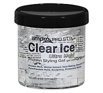 Ampro Pro Styl Clear Ice Protein Styling Gel Ultra Hold - 6 Oz