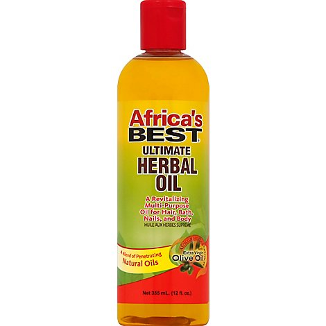 Africas Best Hair Care Ultra Herbal Oil - 12 Fl. Oz.