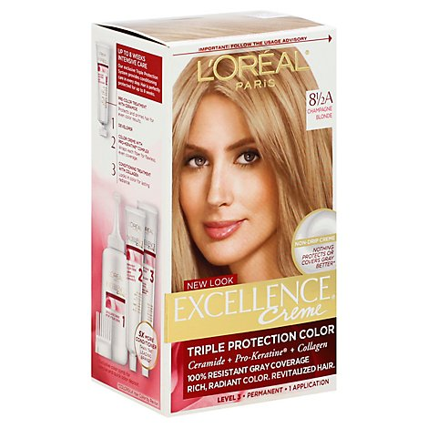Excellence Creme Hair Color Triple Protection Color Champagne Blonde 8 1/2a - Each