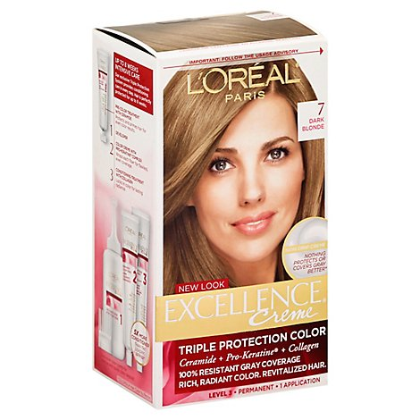 LOreal Excellence Hair Color Creme Triple Protection Dark Blonde 7 - Each