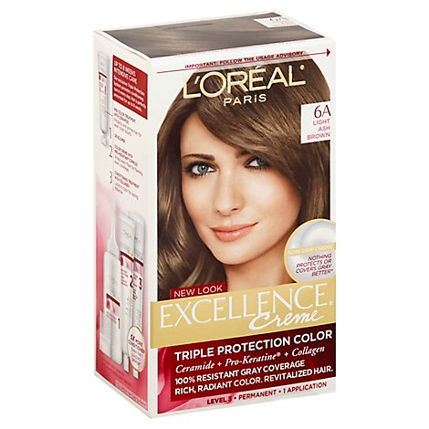 LOreal Excellence Creme Light Ash Brown 6a - Each