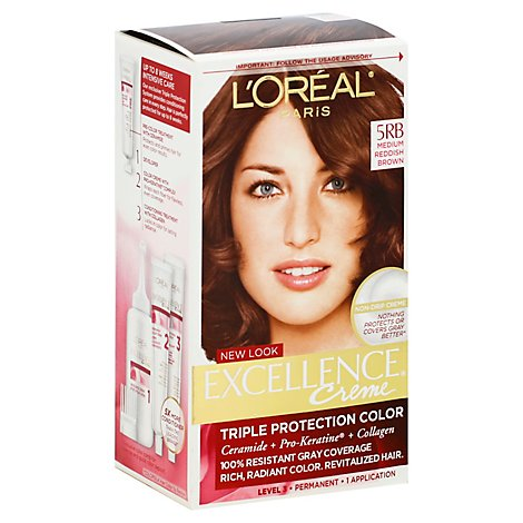 LOreal Excellence Creme Medium Reddish Brown - Each