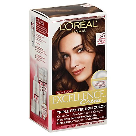 LOreal Excellence Creme Medium Golden Brown 5g - Each