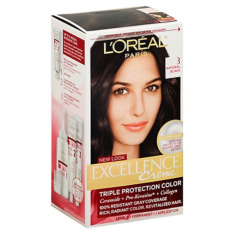 LOreal Excellence Creme Natural Black 3 - Each