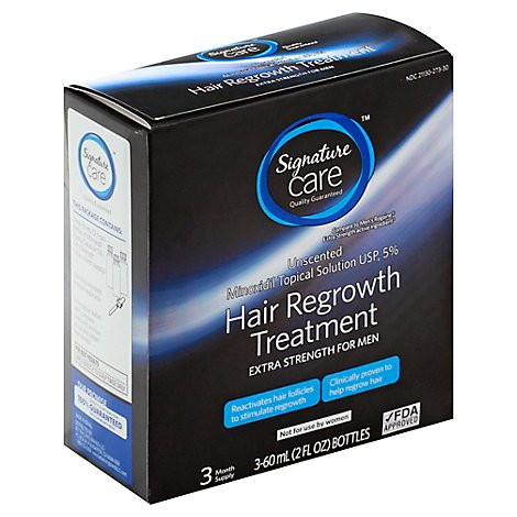 Signature Care Hair Regrowth Treatment Extra Strength Minoxidil 5% - 3-2 Fl. Oz.