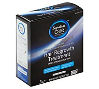 Signature Care Hair Regrowth Treatment Extra Strength for Men Unscented - 3-2 Fl. Oz.