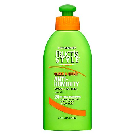 Garnier Fructis Style Sleek & Shine Smoothing Milk Anti-Humidity With Argan Oil - 5.1 Fl. Oz.