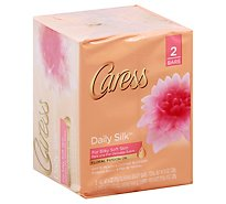 Caress Daily Silk Beauty Bar Silkening White Peach & Silky Orange Blossom - 2-4 Oz