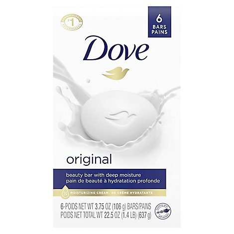 Dove Beauty Bar White - 6-4 Oz