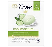 Dove Beauty Bar Cool Moisture Cucumber & Green Tea - 2-4 Oz