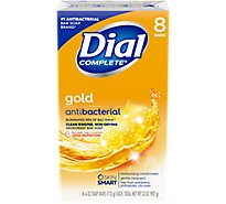 Dial Deodorant Soap Bars Antibacterial - 8-4 Oz