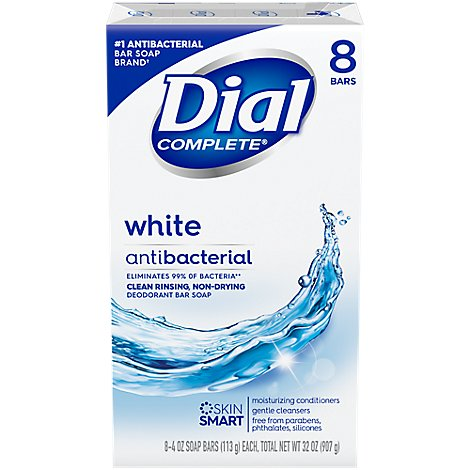 Dial Deodorant Soap Bars White - 8-4 Oz