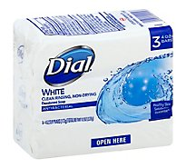Dial Deodorant Soap Bars White - 3-4 Oz