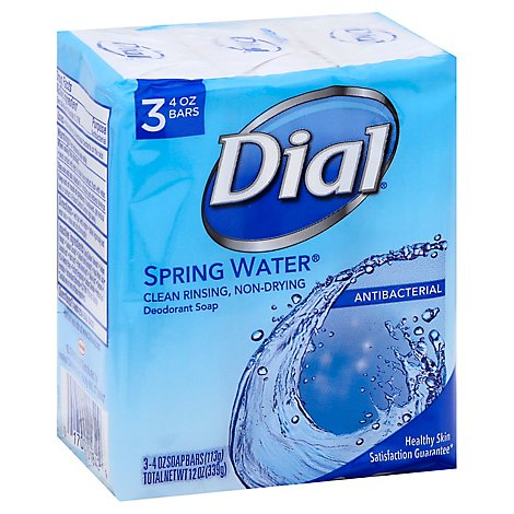 Dial Deodorant Soap Bars Spring Water - 3-4 Oz
