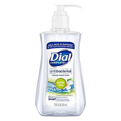 Dial Hand Soap Liquid With Moisturizer Antibacterial White Tea - 7.5 Fl. Oz.