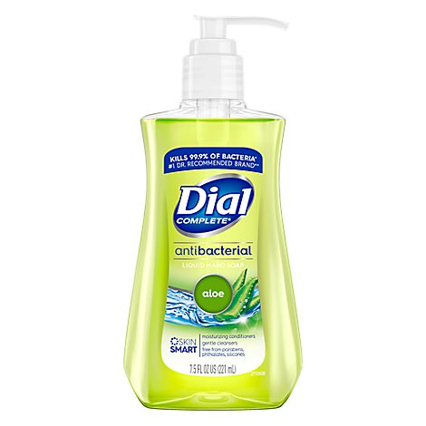 Dial Hand Soap Liquid With Moisturizer Antibacterial Aloe - 7.5 Fl. Oz.