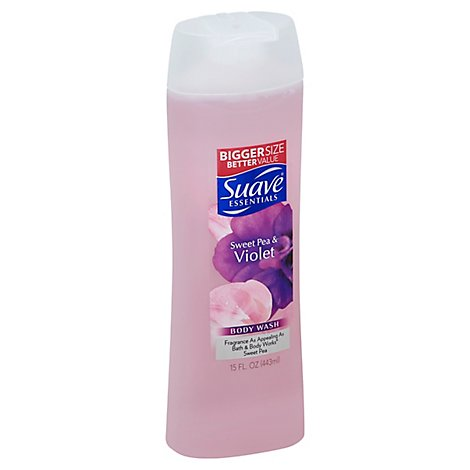 Suave Essentials Body Wash Sweet Pea and Violet - 15 Fl. Oz.