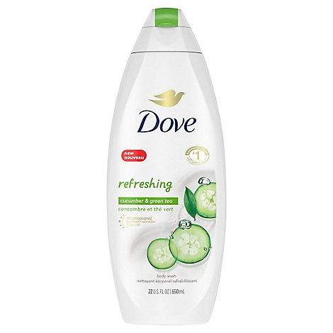Dove Go Fresh Body Wash Cool Moisture Cucumber & Green Tea Scent - 22 Fl. Oz.