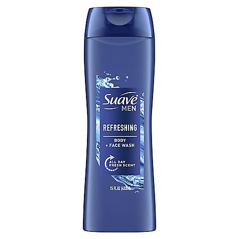 Suave Men Body Wash Refresh - 15 Fl. Oz.