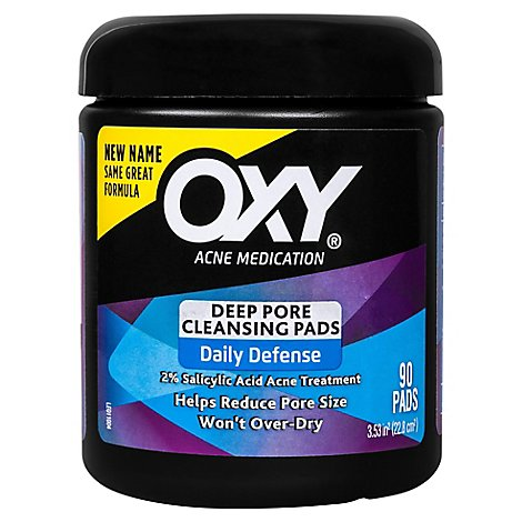 Oxy Acne Medication Cleansing Pads Daily Defense Skin Clearing - 90 Count