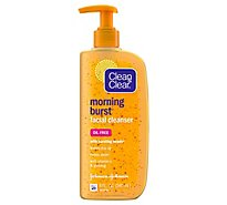 Clean & Clear Morning Burst Cleanser Oil Free with Bursting Beads - 8 Fl. Oz.