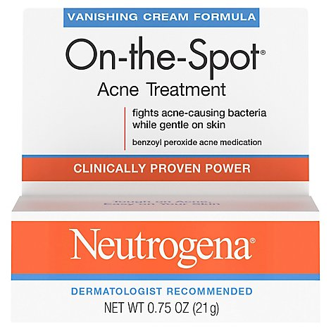 Neutrogena On-the-Spot Acne Treatment Maximum Strength Vanishing Cream Formula - 0.75 Oz