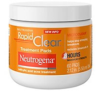 Neutrogena Rapid Clear Treatment Pads Salicylic Acid Acne Treatment - 60 Count