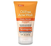 Neutrogena Oil-Free Acne Wash Daily Scrub - 4.2 Fl. Oz.