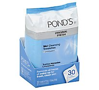 Ponds Towelettes Wet Cleansing Original Fresh - 30 Count