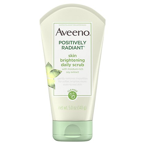 Aveeno Active Naturals Daily Scrub Positively Radiant Skin Brightening - 5 Oz