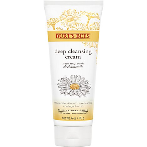Burts Bees Deep Cleansing Cream Soap Bark & Chamomile - 6 Oz
