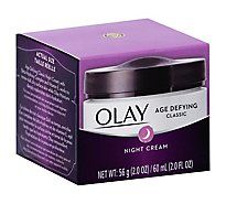 Olay Face Moisturizer Age Defying Night Cream Classic - 2 Oz