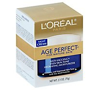 LOreal Age Perfect Night Cream for Mature Skin - 2.5 Oz