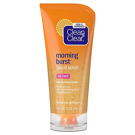 Clean & Clear Morning Burst Scrub With Bursting Beads - 5 Oz