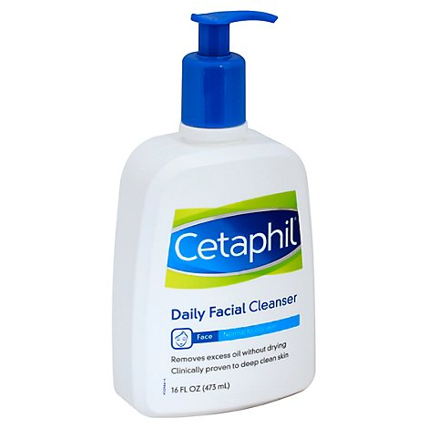 Cetaphil Facial Cleanser Daily for Normal to Oily Skin - 16 Fl. Oz.