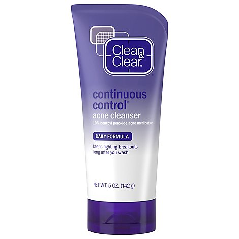 Clean & Clear Acne Cleanser Continuous Control Daily Formula - 5 Oz
